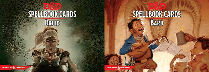 D&D 5e Bard and Druid Spellbook Cards – Now Available at GF9