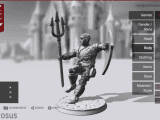 My cleric of Poseidon on Hero Forge