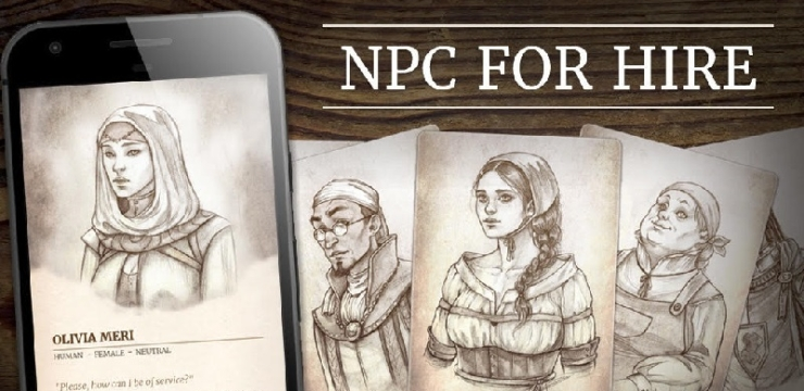 NPC For Hire – Print and Mobile Tools by Knights of Vasteel
