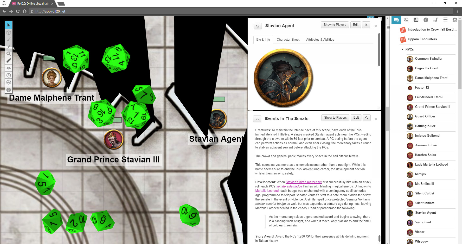 Pathfinder and Starfinder on Roll20 - Tribality