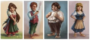four halflings that can be examples of roleplaying halflings