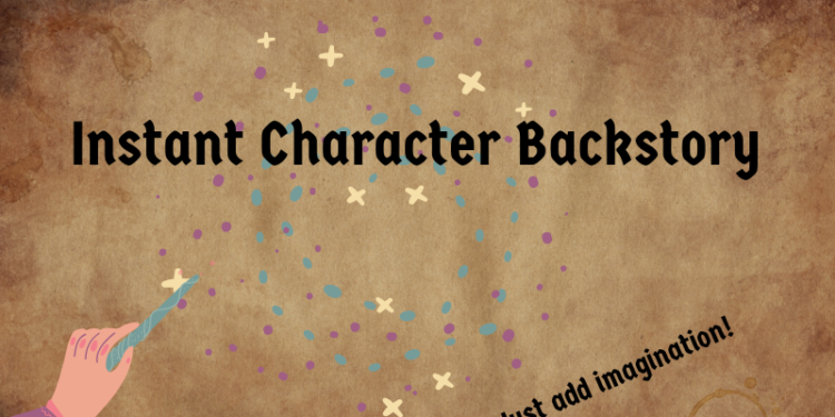 四步驟快速建立RPG角色背景故事