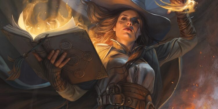 Tasha casting a spell - Dungeons & Dragons