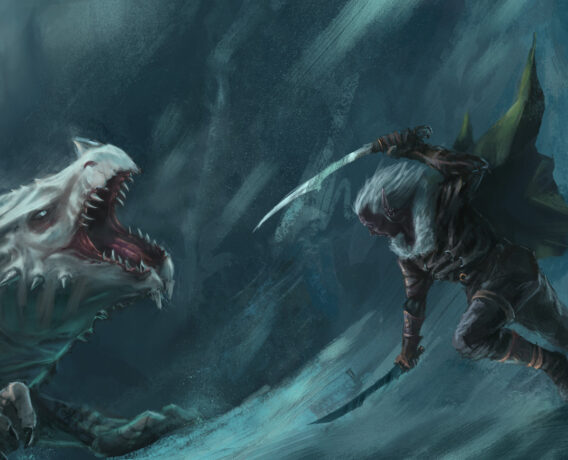 Drizzt vs white dragon