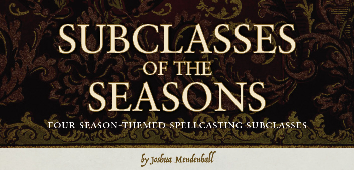 Subclasses of the Seasons, by Joshua Mendenhall - Title