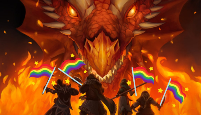 queer characters confront a dragon
